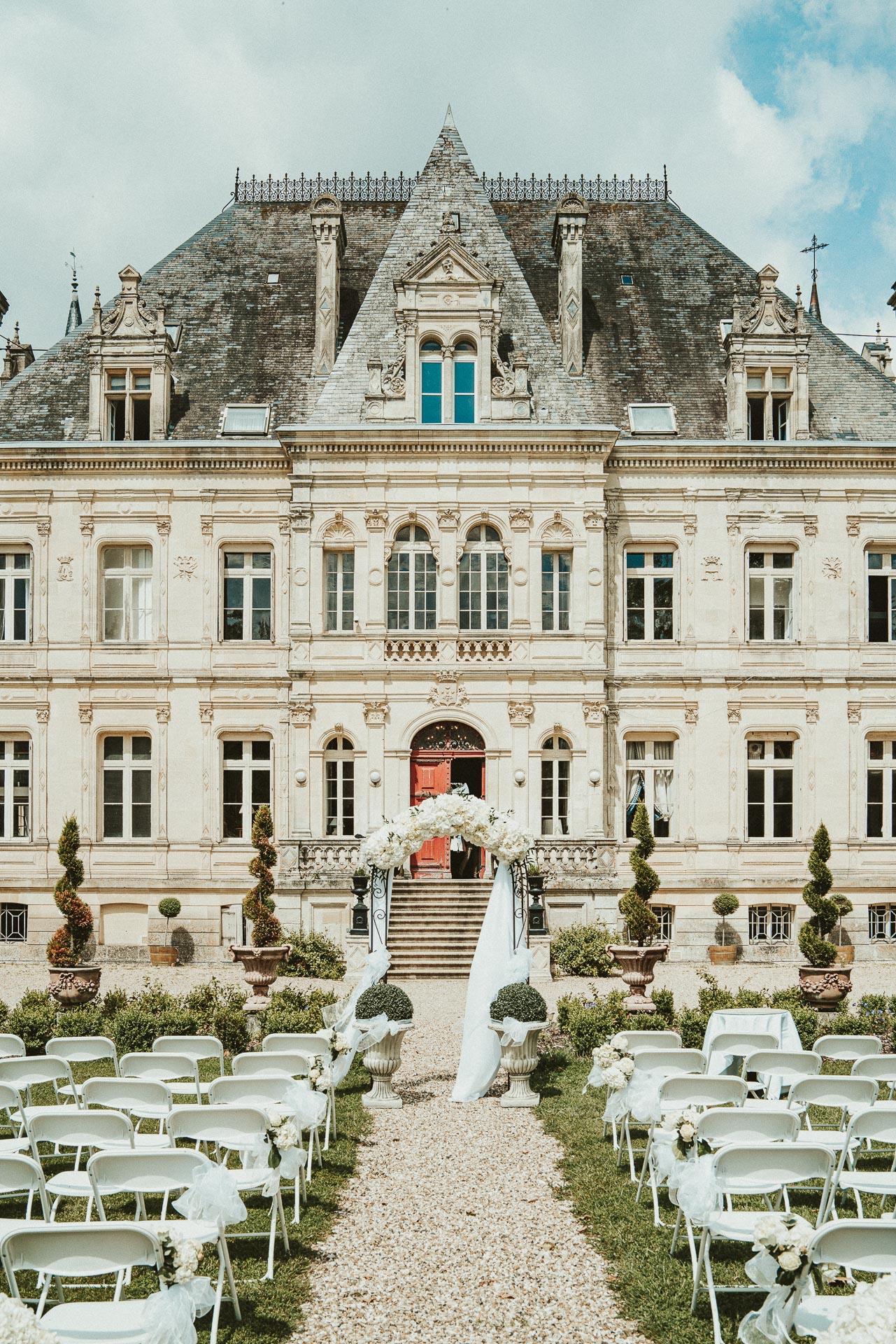 Château de la Valouze, wedding ceremony