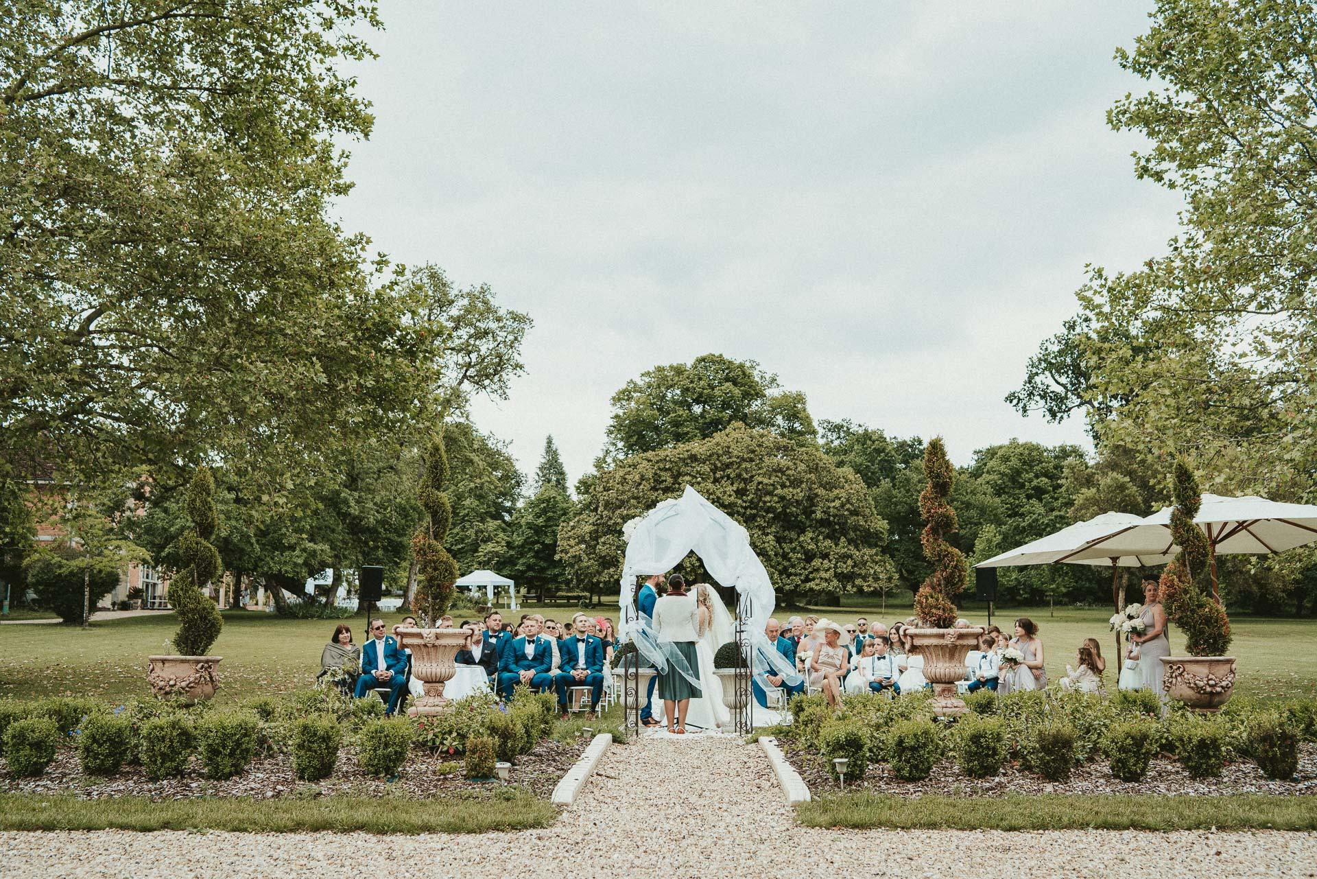 Wedding Ceremony Château de la Valouze